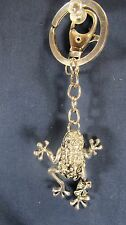 Frog Key Chain Jeweled Pewter Accessory