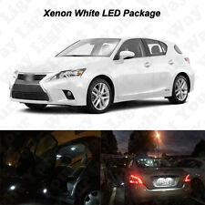 14x White LED Interior Bulbs + Fog Reverse Tag Lights For 2011-2017 Lexus CT200h