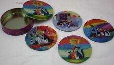 Platillo 4 diferentes Gatos Motivo de ROSINA WACHTMEISTER en caja de regalo