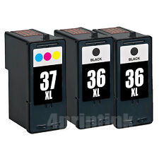 3 Pack Ink Set for Lexmark 36XL 37XL Z2420 X3650 X4650 36 37