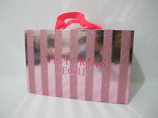 (1) Victoria's Secret Pink Striped Glitter Collectible/Storage/Display Decor Box