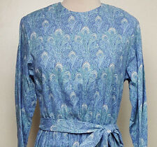Liberty of London Hera peacock print challis dress by J. Jill Ltd vintage 1980s