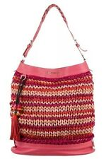 Jimmy Choo Cora Woven Crochet Leather Pink Safari Tassel Hobo Lim Ed $4995