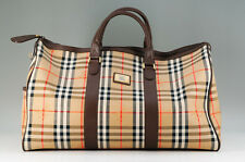 Authentic BURBERRY Boston Bag Burberry Check Beige 598k20