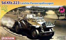 Dragon 1/72 7420 WWII German Sd.Kfz.223 Leichte Panzerspahwagen (2 Vehicles)