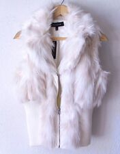 NEW~$60~Snow Bunny White Ivory Fur VEST Sweater Jacket Coat Top~8/M/Medium