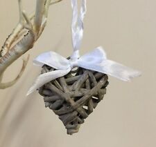 Rustic Wicker Willow Hanging Heart Vintage Wedding Wreath Small Chic Decoration