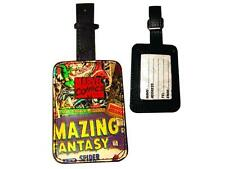 Marvel Classic Comic Book Covers Collage Luggage Tag with Zinc Badge, NEW UNUSED