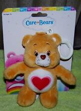 "Care Bears Tenderheart Bear Backpack Or Purse Clip 5"" Plush New"