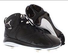 NIKE AIR JORDAN 7 RETRO VII BASEBALL METAL CLEAT Size 9.5 BLACK WHITE 684943 010