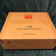 2017 NAD C368 Integrated Amplifier with DAC, BRAND NEW FACTORY SEALED