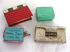 Four Antique Sewing Items-N/Case-Pin Cushion etc.