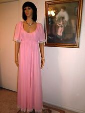 *RARE* CLAIRE SANDRA by LUCIE ANN BH vintage nightgown PINK size L large