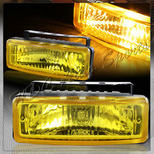 "5"" x 1.75"" Rectangle Chrome Housing / Yellow Lens Fog Lights Lamps Universal 1"