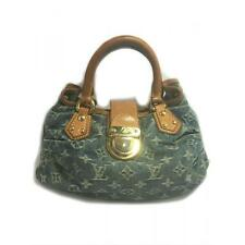 Louis Vuitton Monogram Denim Pleaty Handbag Blue M95020 Bag