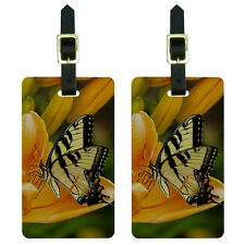 Tiger Swallowtail Butterfly Luggage Suitcase Carry-On ID Tags Set of 2