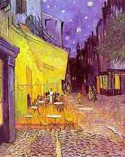 Metal Sign Van Gogh Cafe Terrace At Night A4 12x8 Aluminium