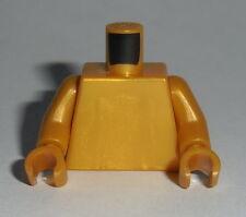 TORSO Lego Plain Pearl Gold NEW (Genuine Lego) No Print Monochrome HTF