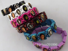 Wholesale 48 pcs Mixed color Bob Marly Wood stretch bracelets Free shipping