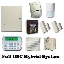 Full DSC Hybrid wired/wireless Security System - RFK5501 Keypad - PC 1616 Panel