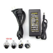 Power Supply AC to DC Adapter for 5050 3528 Flexible LED Strip Light 12V 5A 60W