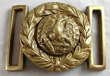 CIVIL WAR STYLE EAGLE WITH LEAVES MILITARY REPRODUCTION 2 PC BRASS BELT BUCKLE