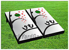 VINYL WRAPS Cartoon Bird Love Cornhole Board DECALS Bag Toss Game Stickers 542