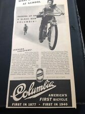 N1-6 Ephemera 1940 Advert Folded Columbia America's First Bicycle