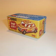 Corgi Toys  349 Morris Mini Cooper Pop Art empty Repro Box