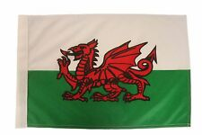 """WALES COUNTRY 12"""" X 18"""" INCH CAR STICK FLAG BANNER WITHOUT POLE..NEW"""