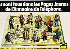PUBLICITE ADVERTISING 045  1979  les PAGES JAUNES DE L'ANNUAIRE (2p) FRANCE TELE