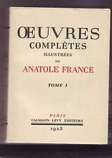 oeuvres completes illustrées anatole france tome 1
