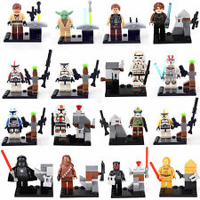 Rogue One A Star Wars Story 16 MiniFigures C-3PO Fett Master Yoda Building lego