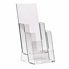 1/3 A4 DL (100mm W x 210mm H) 2 Tier Leaflet Holder Display Stand - BPS2C110