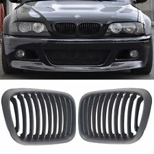Front Replacement Matte Black Kidney Grille For 98-01 BMW E46 3 Series Sedan 4Dr