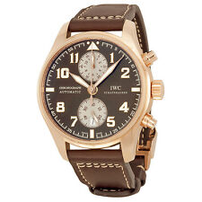 IWC Pilots Chronograph Edition Antoine de Saint Exupery Rose Gold Mens Watch