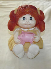 VINTAGE  1983 CABBAGE PATCH DOLL GIRL  PLASTIC PIGGY BANK