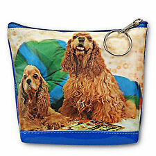 Cocker Spaniel Sheep Dog 3D Lenticular Universal Purse Bag #TP-216-PAVIA#