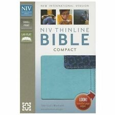 NIV Thinline Bible: Compact / Lay Flat - Zondervan Turquoise - Blueberry