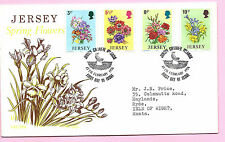 JERSEY QEII 1974 - FDC - SPRING FLOWERS  - Special Handstamp