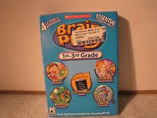 Scholastic Brain Play 1st-3rd Grade 4 cd-rom work book Math Reading Typing More