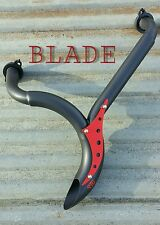 STG BLADE Honda Fury Exhaust with red logo