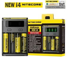 NEW NITECORE i4 Charger Battery For AA AAA 18650 14500 16340 26650 Li-ion Ni-MH