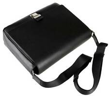 NEW FENDI BLACK SAFFIANO LEATHER ELITE MESSENGER CROSS BODY BAG
