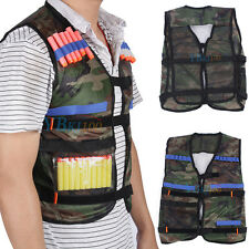 Adjustable Tactical Vest Jacket for 12 Darts Gun Accessories Nerf N-Strike Green