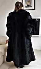 Glam noir long fourrure véritable manteau unisexe taille l-xl berghaus