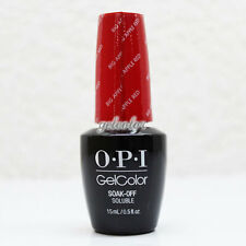 OPI GelColor Soak Off LED/UV Gel Nail Polish 15ml 0.5 fl oz Big Apple Red #GCN25