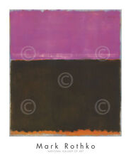 ABSTRACT ART PRINT - Untitled, 1953 by Mark Rothko Rose Brown Gold Poster 34x28