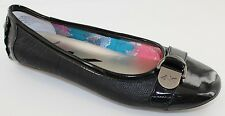 Anne Klein Bertizmo Womens Black Pewter Slip On Ballet Flats Shoes Size 6 NEW