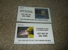 LOT OF 32 SHREK MONOPOLY SPELLS & POTONS CARDS...2 GET OUT OF JAIL FREE CARDS
